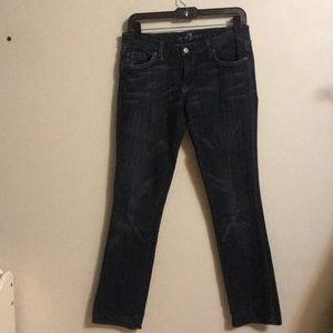 "7 for all Mankind ""Kate"" Low rise slim jeans"